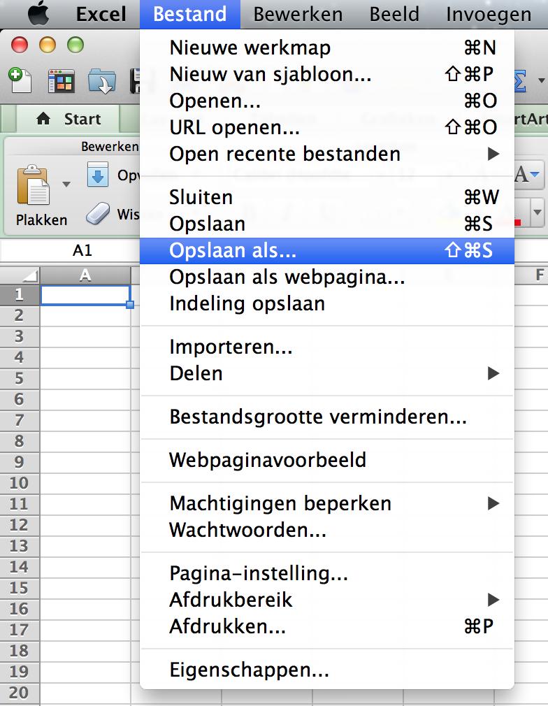 Excel naar PDF