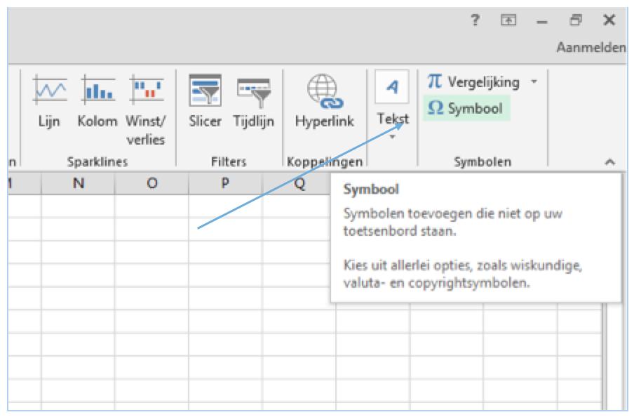 Vinkje in Excel