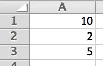 Delen in Excel