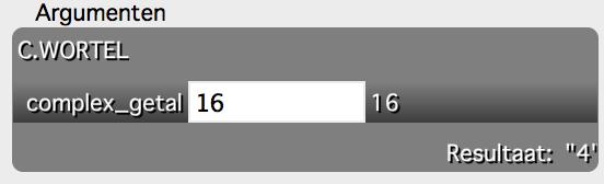 Wortel in Excel