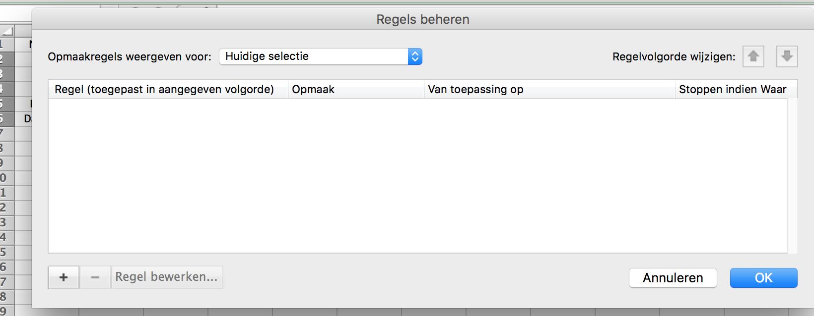 Voorwaardelijke opmaak Excel