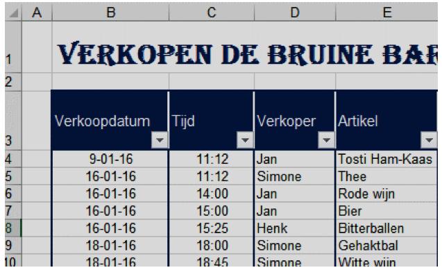 Printen in Excel