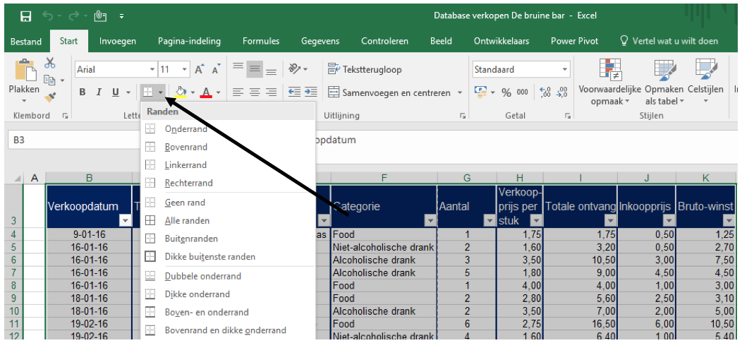 Printen in Excel