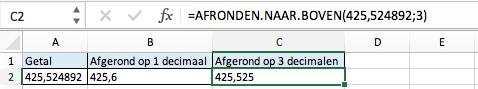 Afronden naar boven Excel